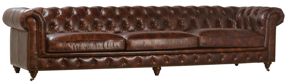 Surprising Awesome Chesterfield Full Grain Cow Leather Large Sofa 119 Ncnpc Chair Design For Home Ncnpcorg