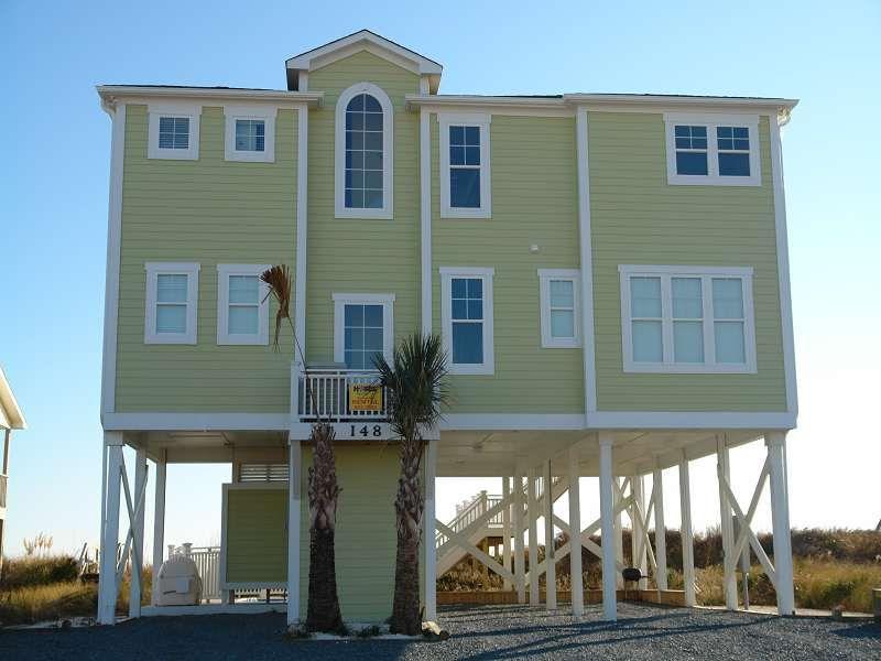 Holden Beach Nc Sandy Feet  Obe A  Bedroom Oceanfront Rental House In