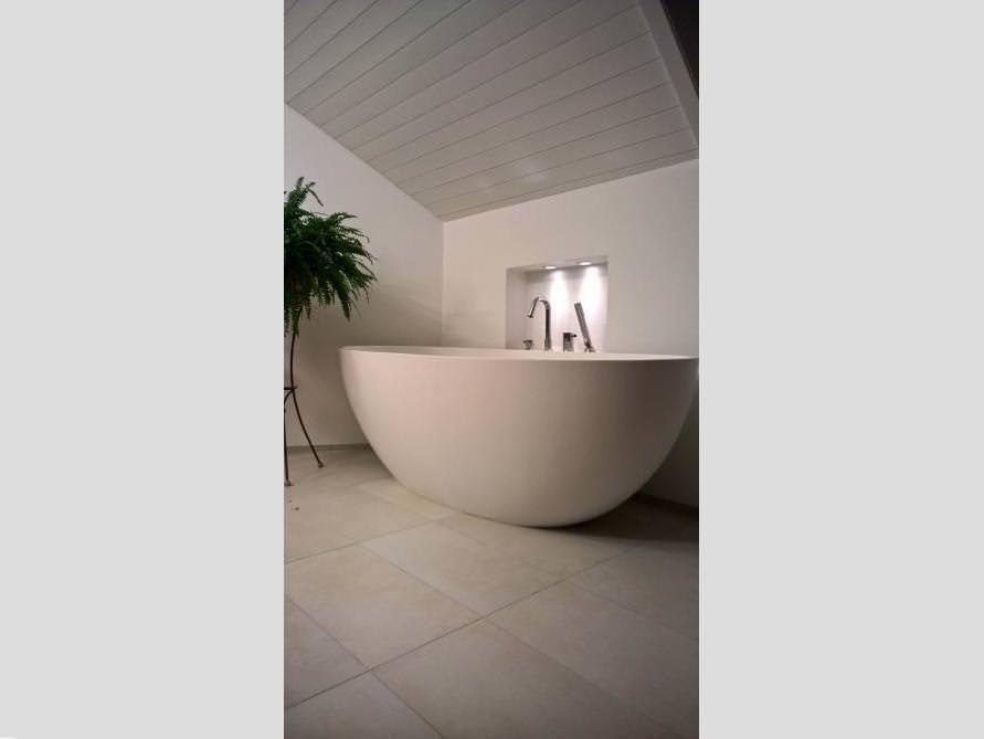 Freistehende Badewanne Piemont Aus Mineralguss   Weiß Matt Oder Glänzend