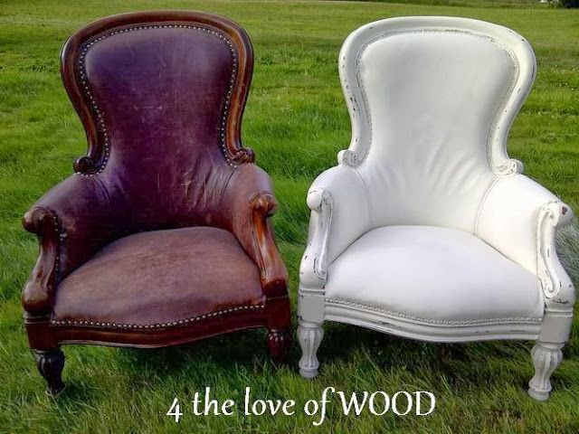 Marvelous Painted Leather Chair Annie Sloan Paint