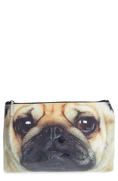 Catseye London Pug Cosmetics Bag Mops