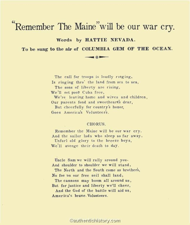 spanish american war remember the maine propaganda  spanish american war remember the maine