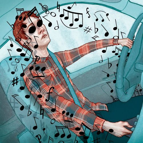 illustration music notes driving artists on tumblr wall on wall street journal id=57244