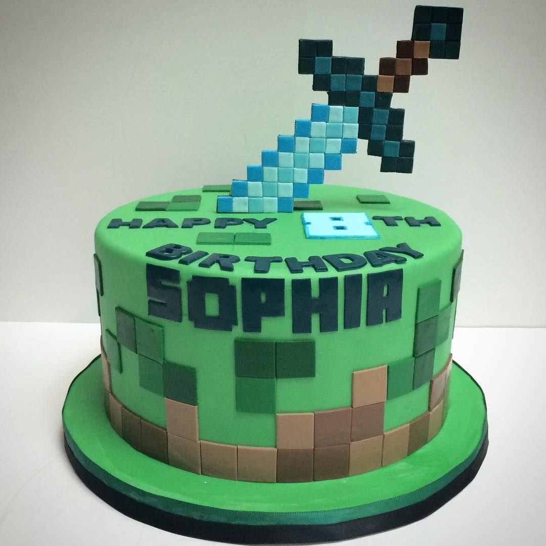 Minecraft Sword cake! @coleturecosplay #deliciousarts # ...