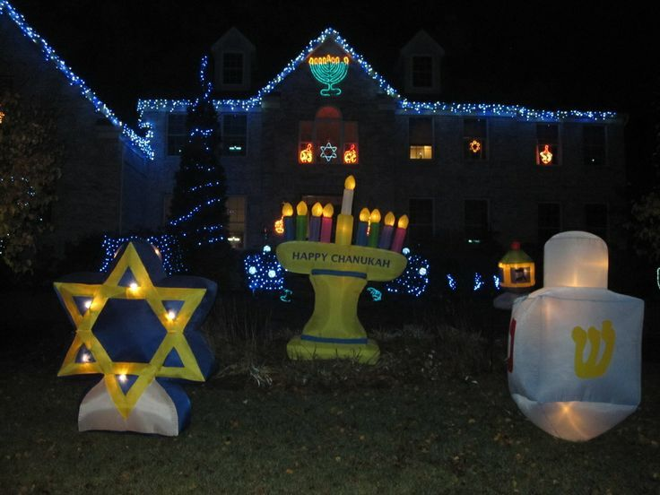 Holiday Decor -- Outdoor Hanukkah Decorations. Hanukkah Food, Jewish  Hanukkah, Hannukah, - Holiday Decor -- Outdoor Hanukkah Decorations. DeckYourDoors