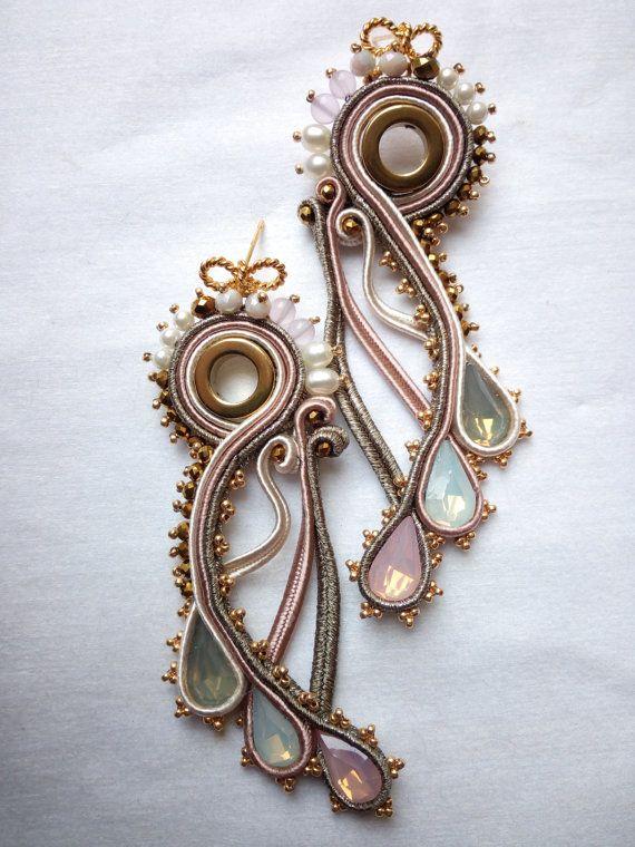 soutache earrings di SimonaRotaris su Etsy