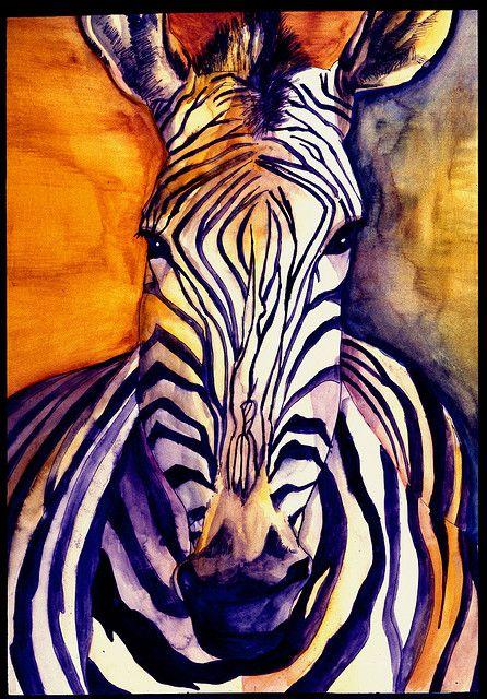 zebra painting print poster