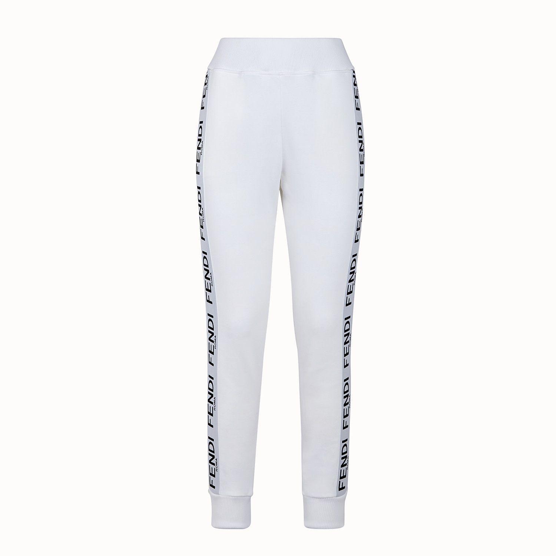 Pantalone Jogging In Jersey Bianco Pantalone Fendi Wanita Celana