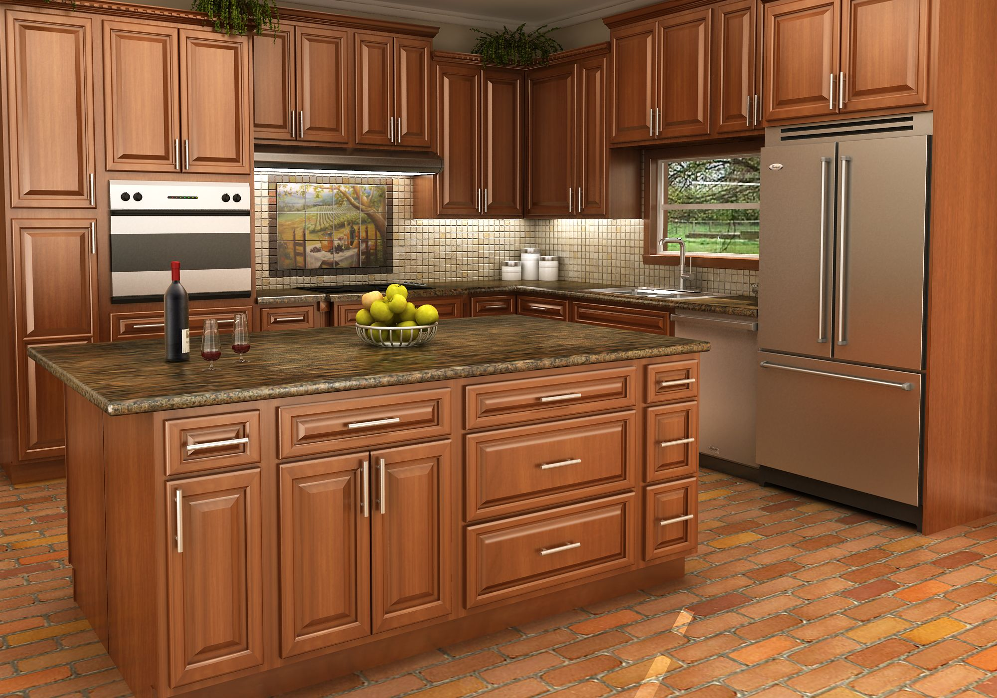 Kitchen Cabinet Finishes Spice Maple Cabinet Finish Finished Kitchen Cabinets Maple Kitchen Cabinets Maple Cabinets Kitchen Cabinets In Bathroom
