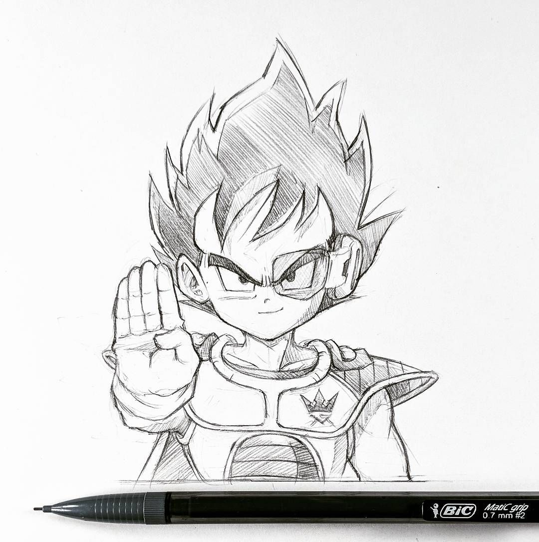 Prince kid new decal design for kingsmustrise to go with the goku one 😉 its been a minute coffeeketch vegeta pencil drawing dragonballz