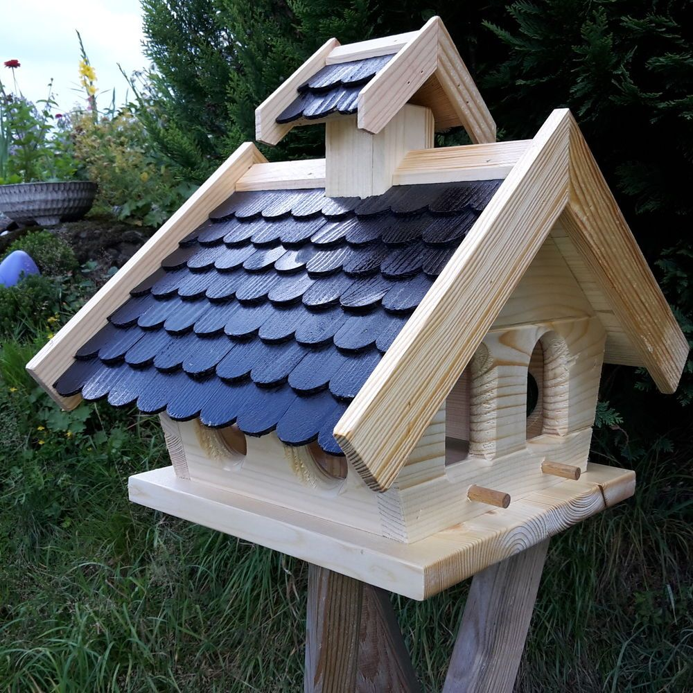 Vogelhaus Putzklappe Vogelfutterhaus Vogelhauser Massives Holz Vogelhauschen Kps Ebay Vogelfutterhaus Vogelhaus Vogelhaus Holz
