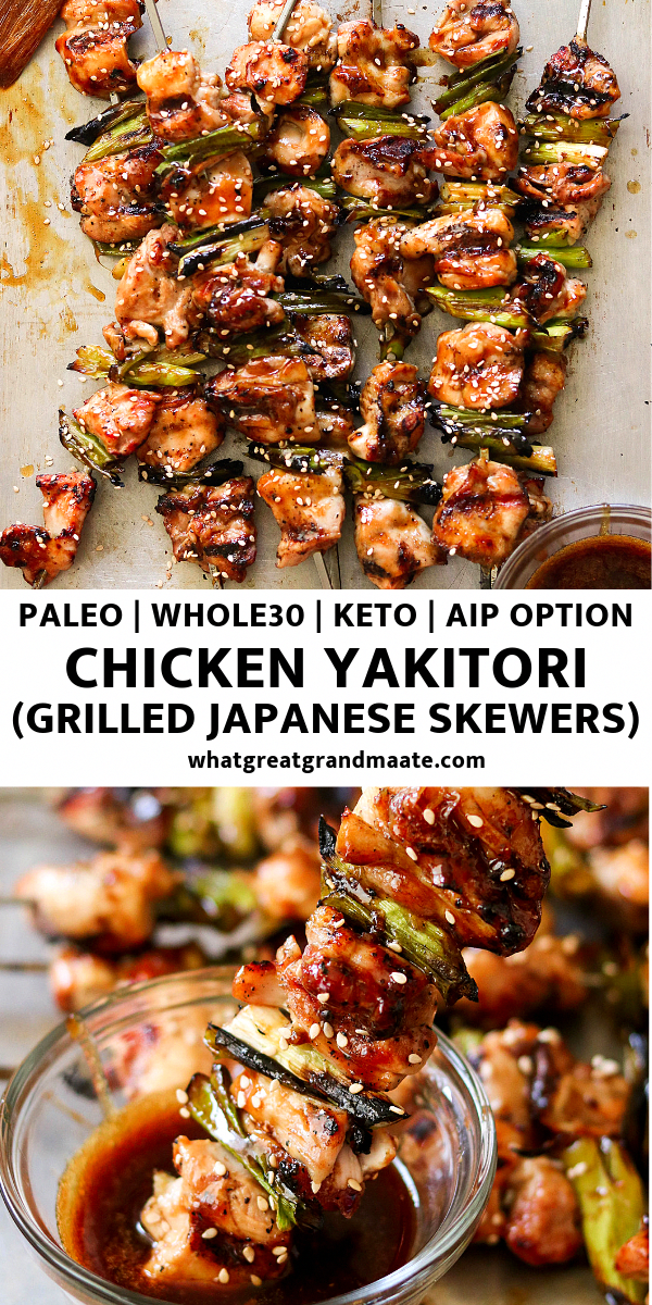 Photo of Paleo Chicken Yakitori aka Japanese Chicken Skewers (Whole30, Keto, AIP Option)