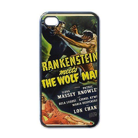 awesome Frankenstein wolf man Apple iPhone 4 or 4s Case / Cover Verizon or At