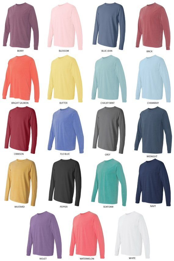 This Is My Tea Shirt Comfort Colors Long Sleeve Shipping Included