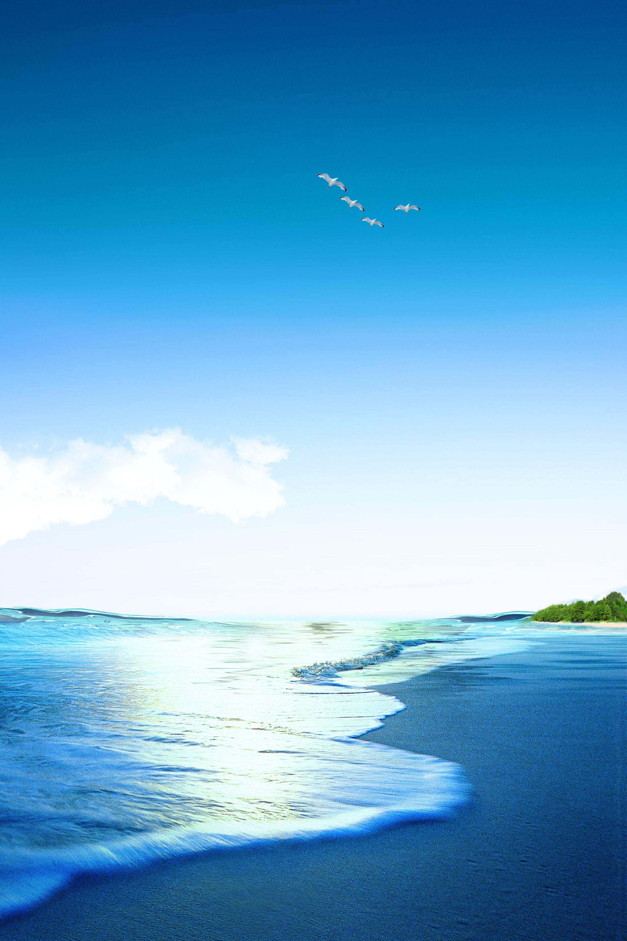خلفية بحر هادئ Natural Landmarks Ocean Background