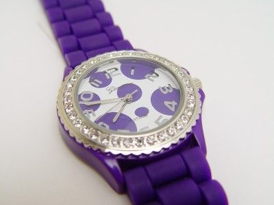 purple polka dot watch #purple #fashion