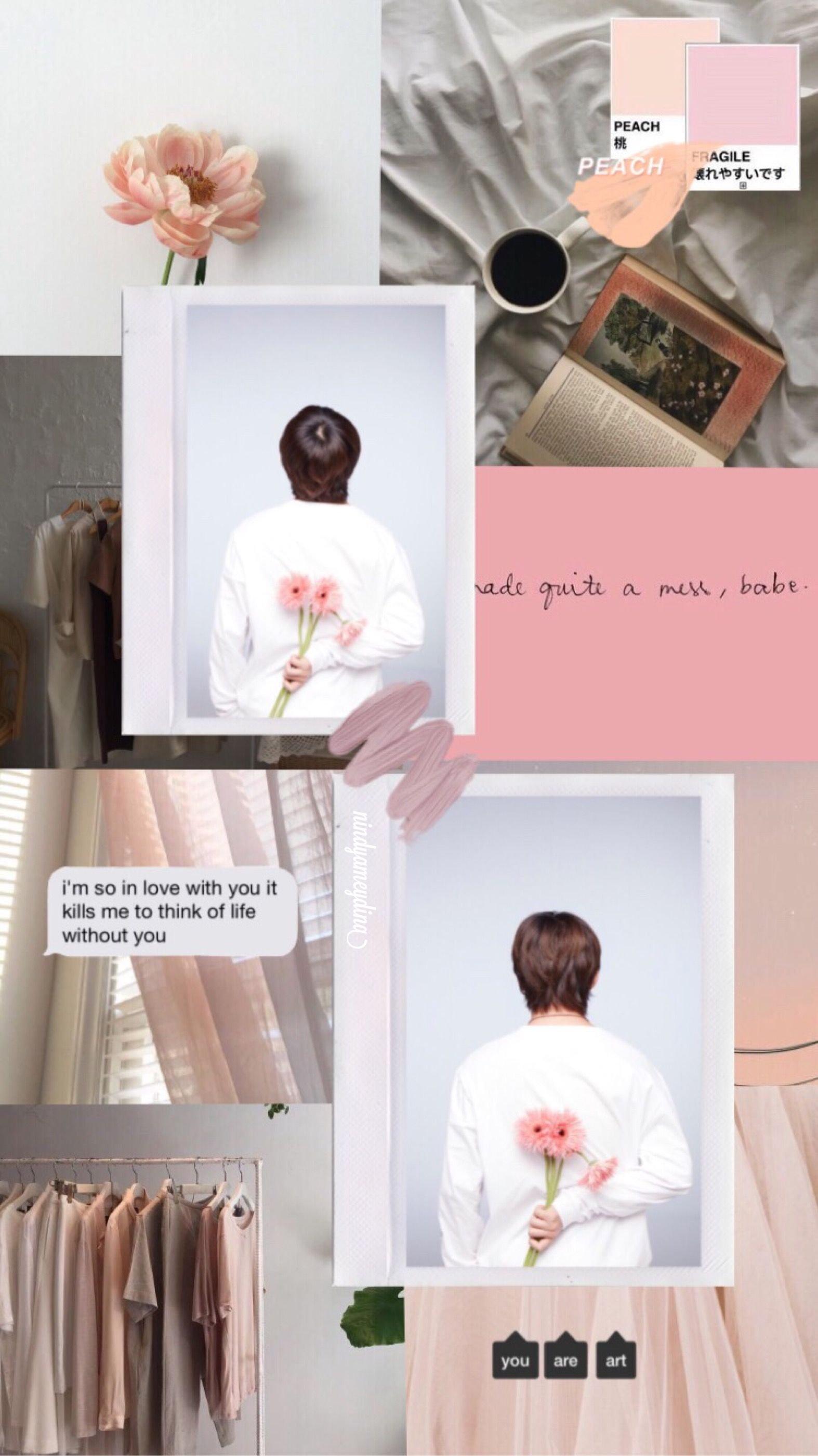 Lockscreen Aesthetic Taehyung V Bts Peachy Dengan Gambar