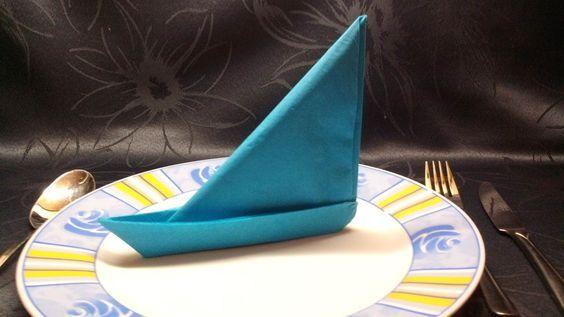 Segelschiff -Servietten Deko falten ( photographed napkin folding instructions for a sailing ship ) — Steemit