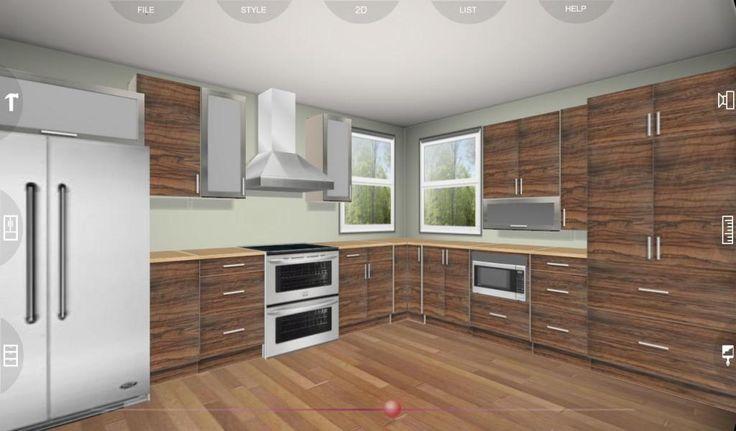 Free 3D Kitchen Design Software | ...kitchen... | Pinterest | Designs