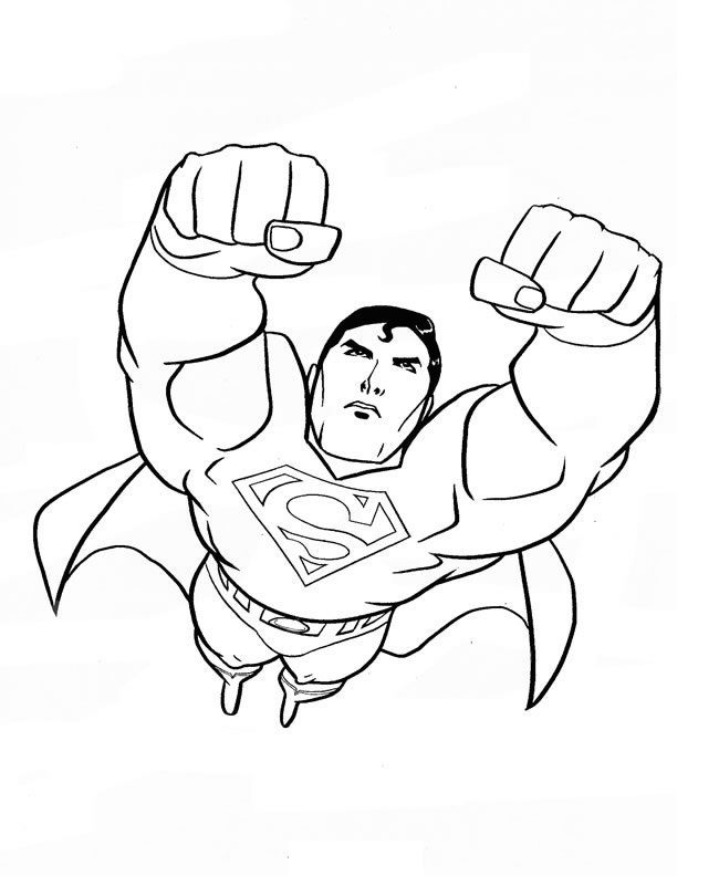 free printable superman coloring pages for kids - Superman Coloring Pages Print