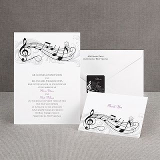 Music Themed Wedding Invitations Ideas Black And