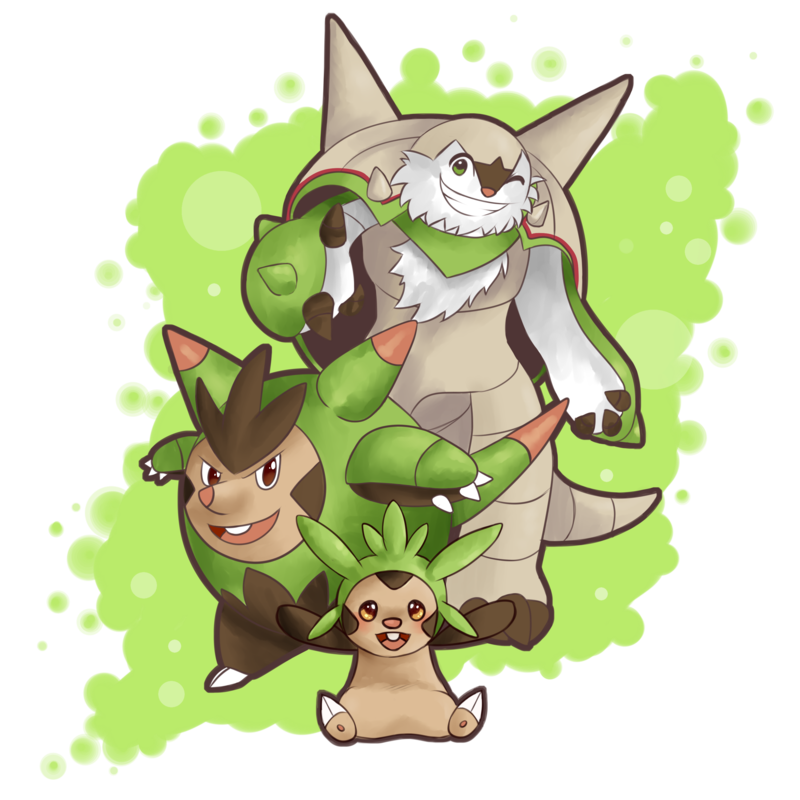 chespin quilladin and chesnaught by seviyummy on deviantart