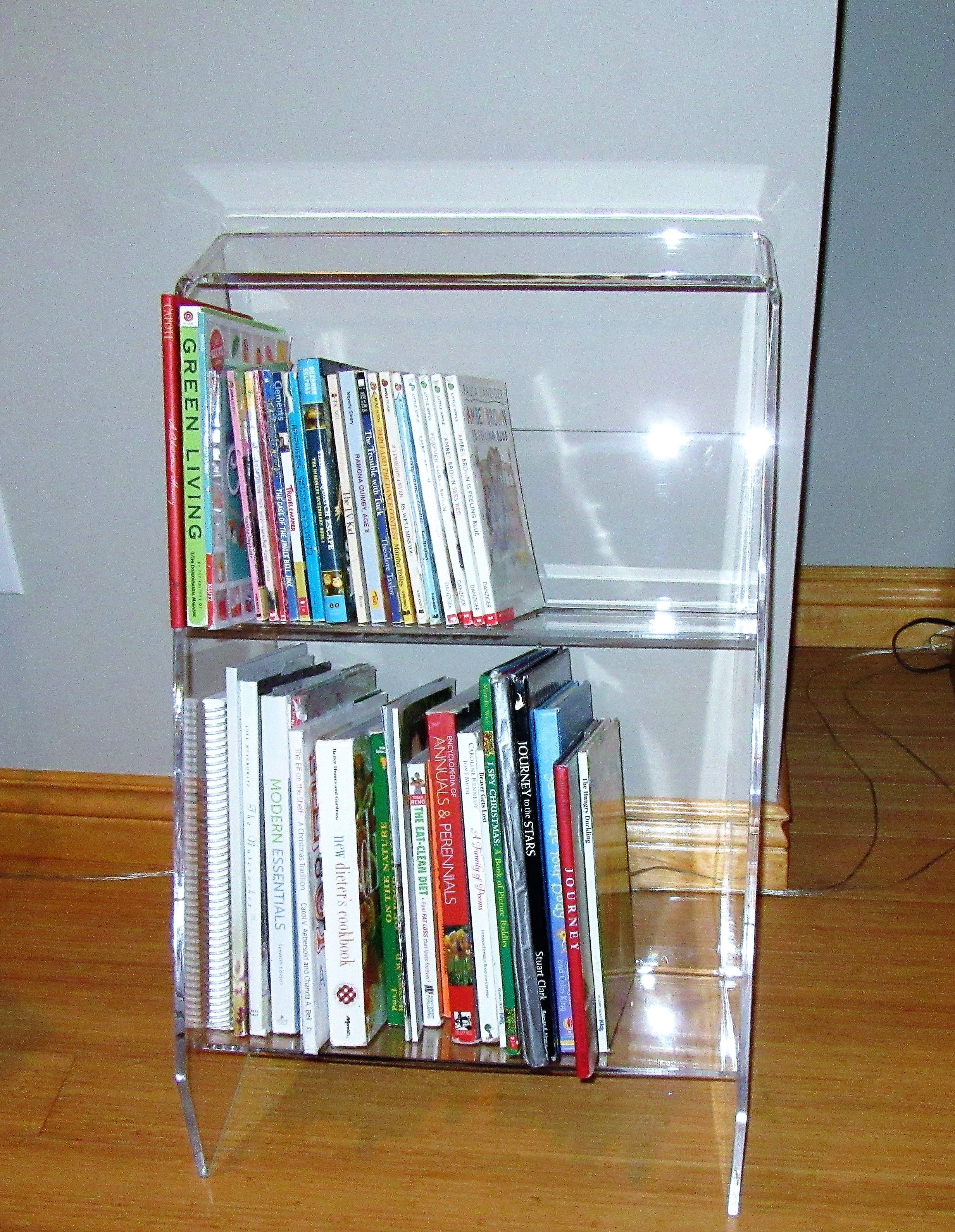 Acrylic Bookcase 16 X16 X26 High 200 00 Custom Sizes Can Be