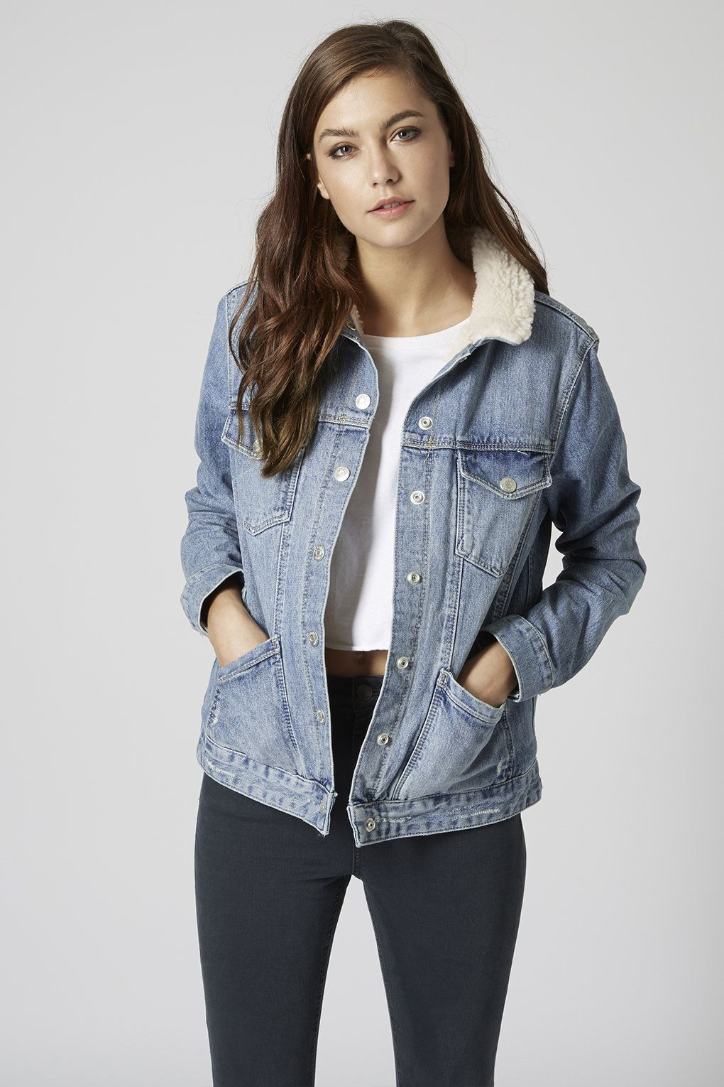 MOTO Light Stone Western Jacket Denim outfit for