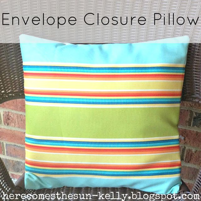 DIY Envelope Closure Pillow