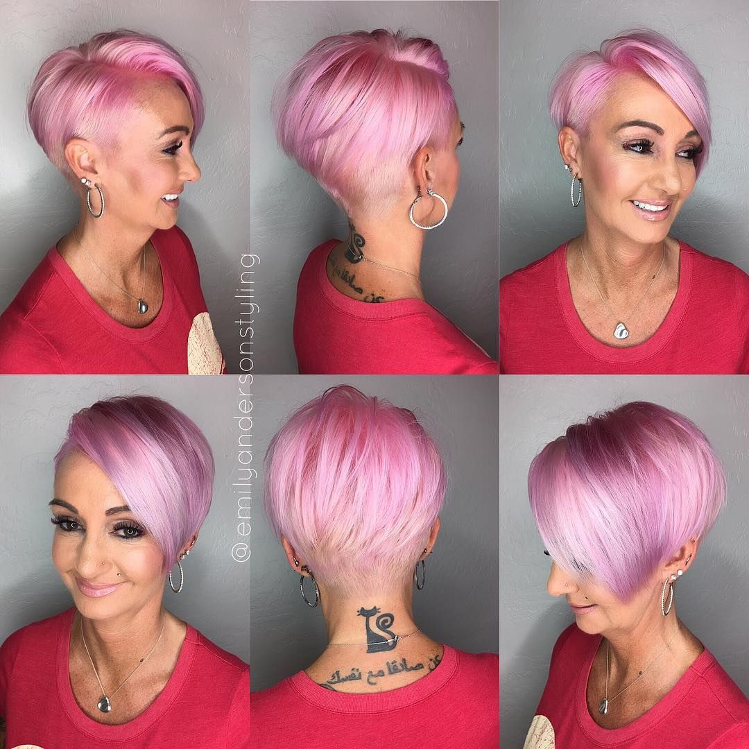 1 033 Likes 80 Comments Arizona Hairstylist Emilyandersonstyling On Instagram The Pixie360 Look For Today 39 S Sh Pink Hair Short Hair Tutorial Hair