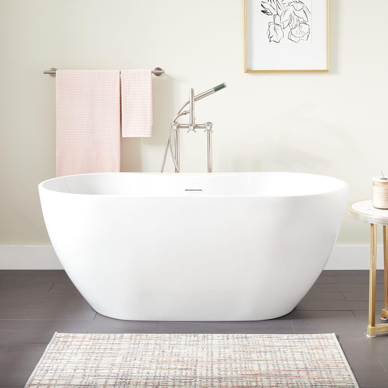 67 Hibiscus Oval Acrylic Freestanding Tub Signature Hardware