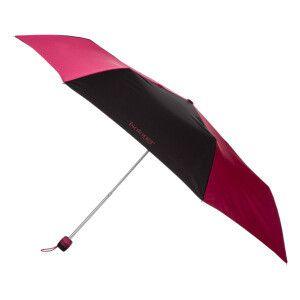 Parapluie Slim rose foncé et noir 25 cm