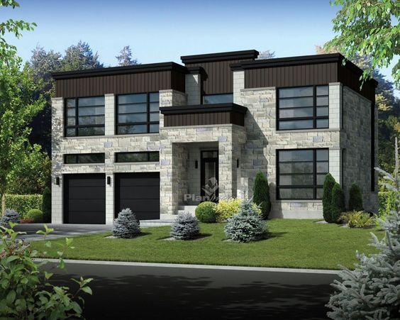 Cette prestigieuse maison à étage se distingue par son toit plat