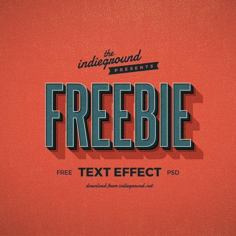Free Retro Text Effect Indieground Design Retro text
