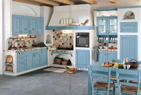 Cucine Piccole Rustiche : So cute. love the layout and that top stove cottage home ideas