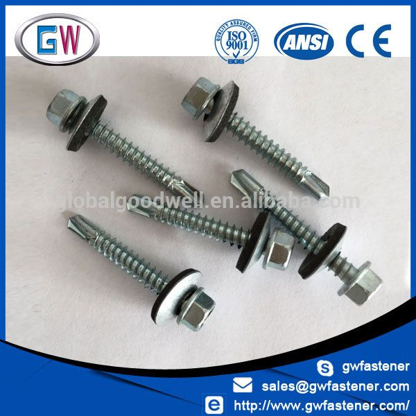 Carbon Steel Self Drilling Metal Roofing Screw 2 Metal Shake Roof Metal Roof Metal Tile