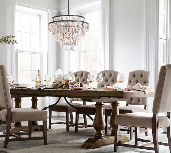 Gemma Crystal Tiered Chandelier #potterybarn