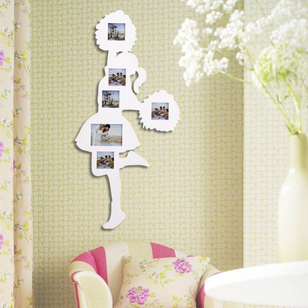 Adeco PF0326 6-Opening White Wooden Wall Collage Photo Picture ...