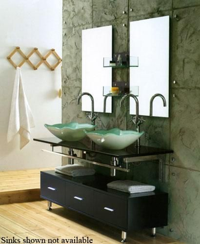 Modern double vanity, contemporary double vanity; sinks not included; $1200