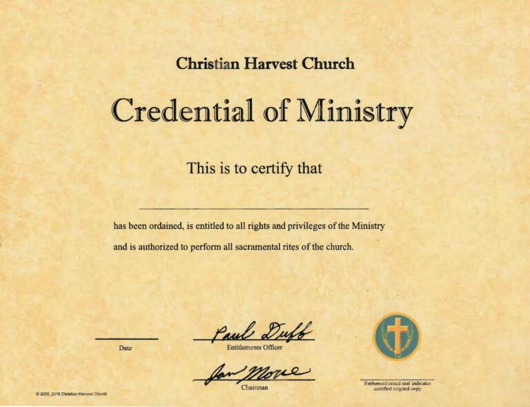 Free Ordained Ordination Ordain Ordination Online Ordainment For Free Ordination Certificat Certificate Templates Paper Template Perfect Attendance Certificate