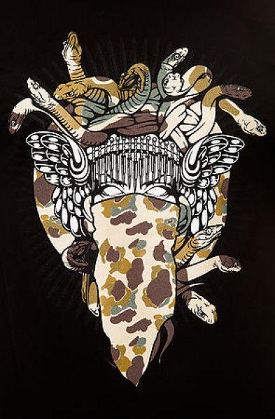 Crooks And Castles Black The Militia Medusa Tee Product 2 15740872 513672263 Large Flexjpeg 393x600