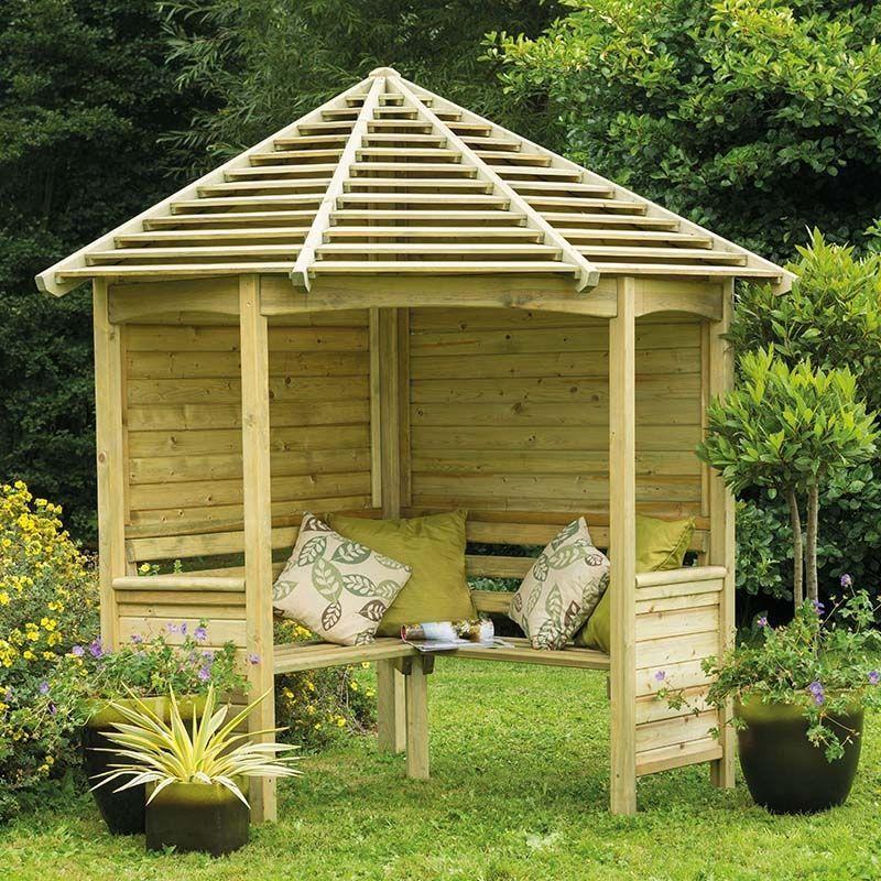 Forest Venetian Corner Garden Arbour Seat 8 X5 Garden Arbour
