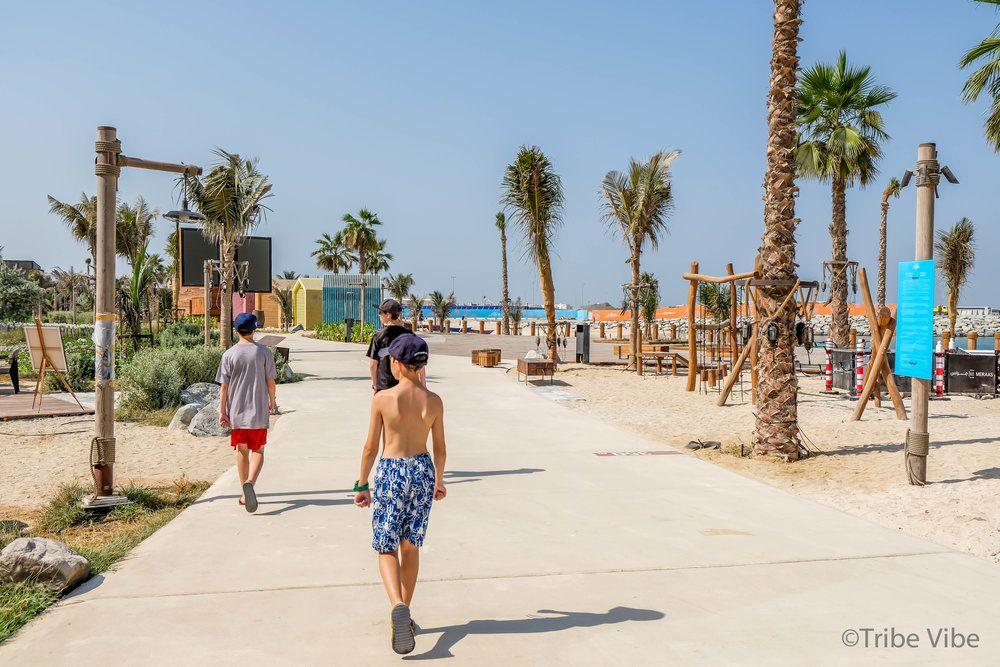 The Boys Really Loved New Beach Front Of La Mer Dubai