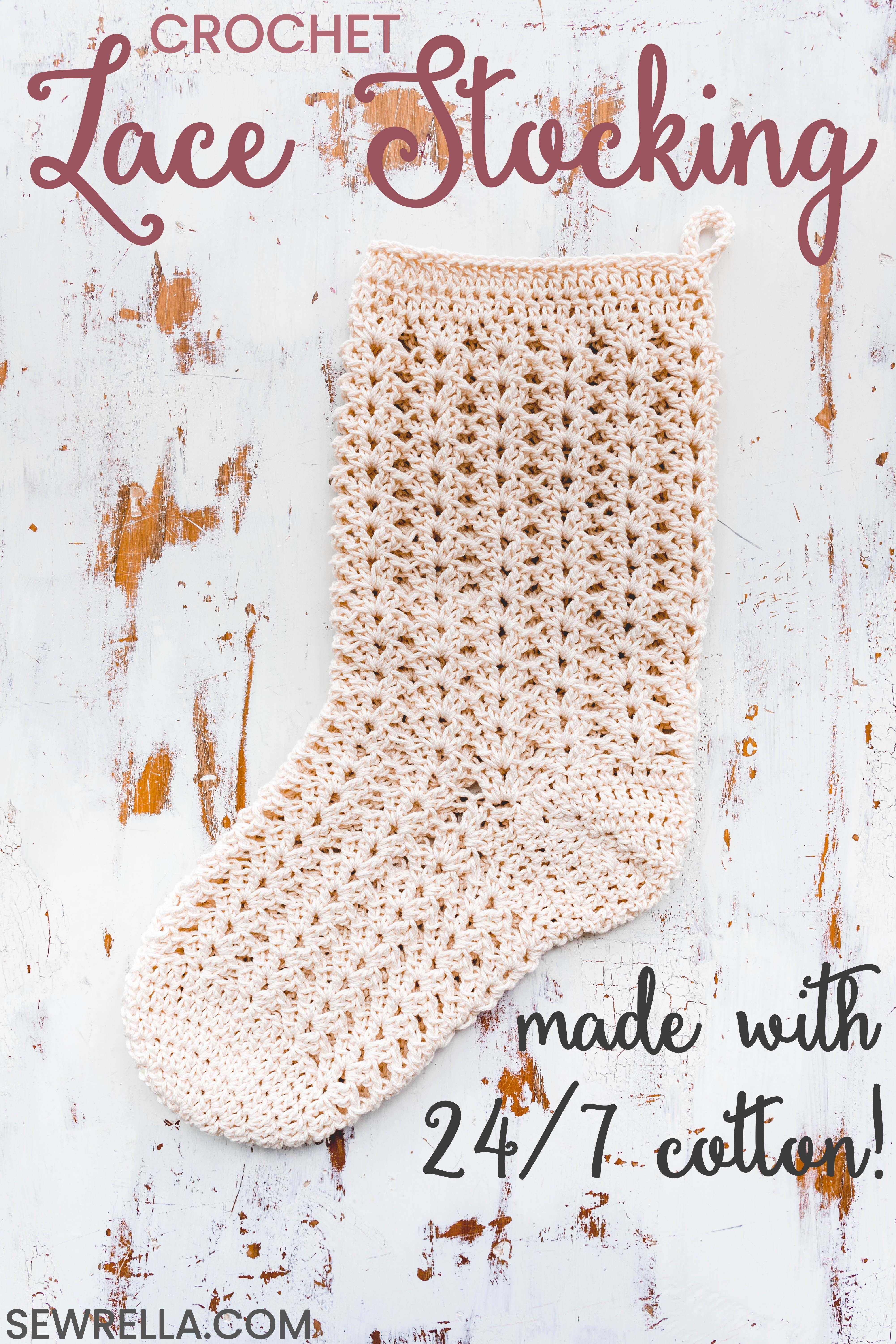 6ba2b0b1551af Crochet Farmhouse Christmas Stocking | Sewrella - Free Crochet ...