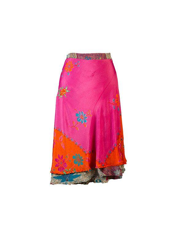 Silk Wrap SkirtOn Sale Wrap Skirt Silk Skirt Sari by Solomana