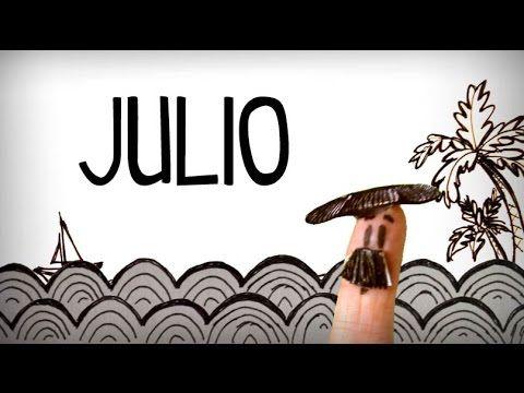 Calendario In Spagnolo.I Mesi In Spagnolo Imparare Vocabolario Spagnolo Youtube