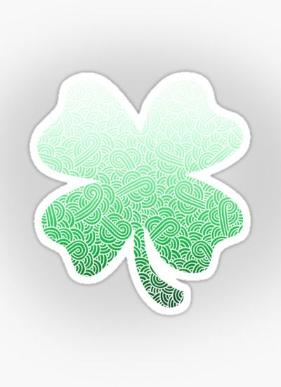 """Ombre green and white swirls doodles"" Sticker by @savousepate on @redbubble…"