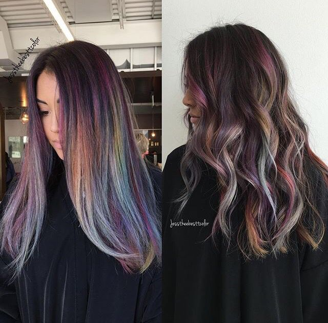 Rainbow Highlights Cool Red Hair Extensions Pinterest Rainbow