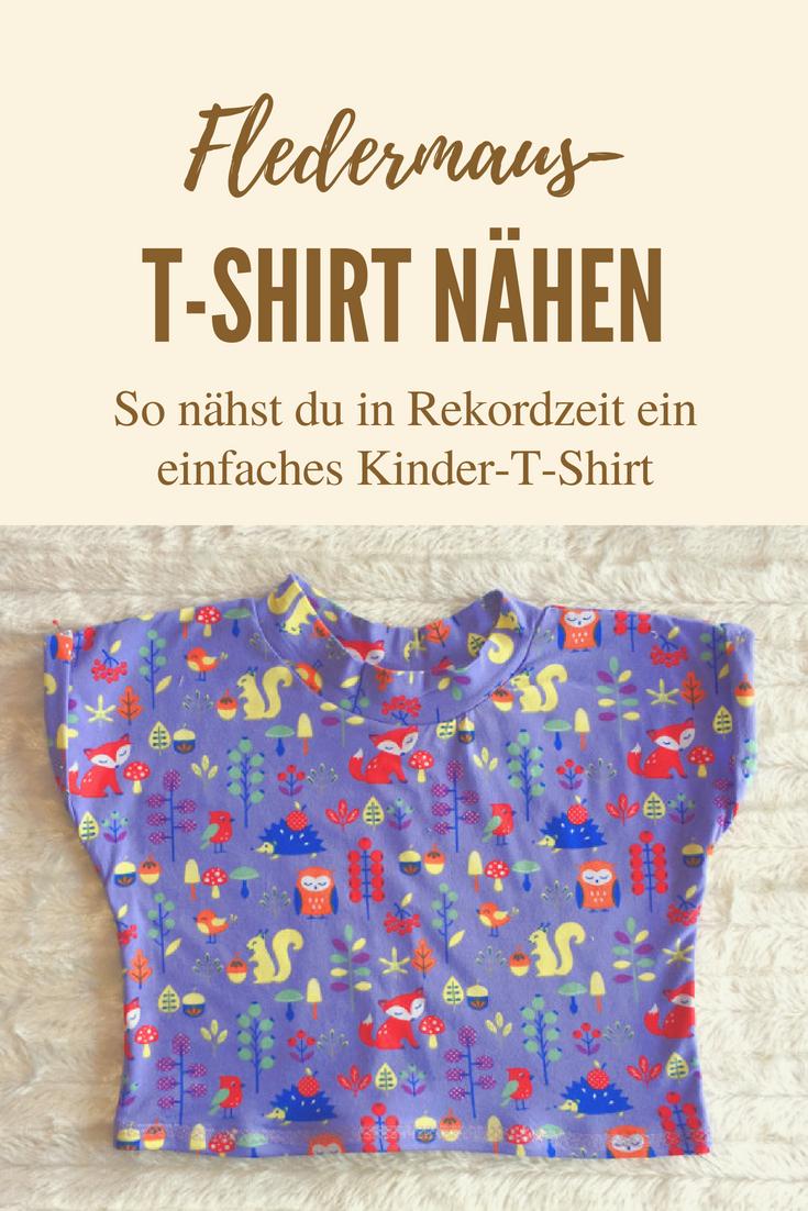 einfaches tshirt nähen  schneller geht's kaum  shirts
