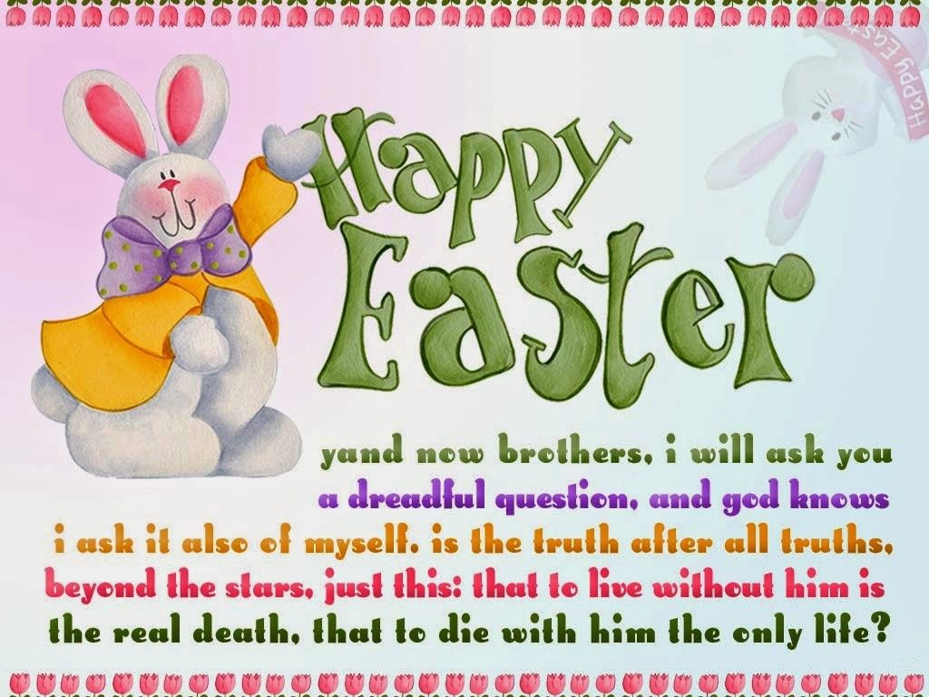 Merveilleux Happy Easter Sunday Wishes ECard With Quote